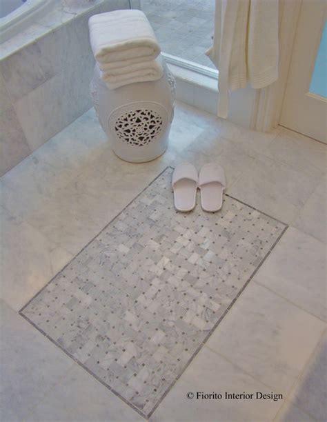 quot tile rug quot on bathroom floor