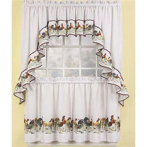 Sears Rooster Kitchen Curtains 17 Kitchen Curtains At Sears 2017 Chevron Print
