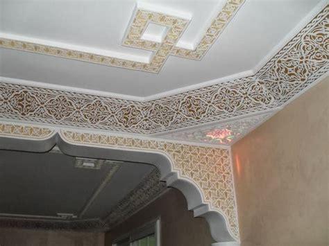 la d 233 coration des plafonds salon marocain en platre d 233 co plafond platre