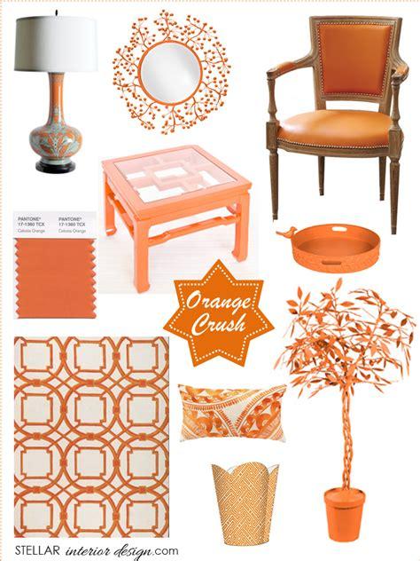 Orange Home Decor  Stellar Interior Design