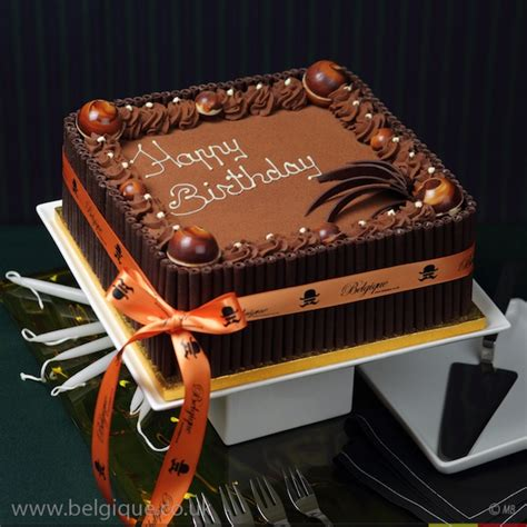 chocolate gateau celebration cake by belgique chocolate decoration available for