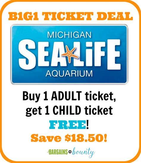 sea michigan aquarium ticket deal bargains to bounty