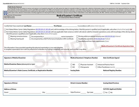 Boat Alabama Certification Exam by Cdl Medical Certification Doctors Medical Form Templates
