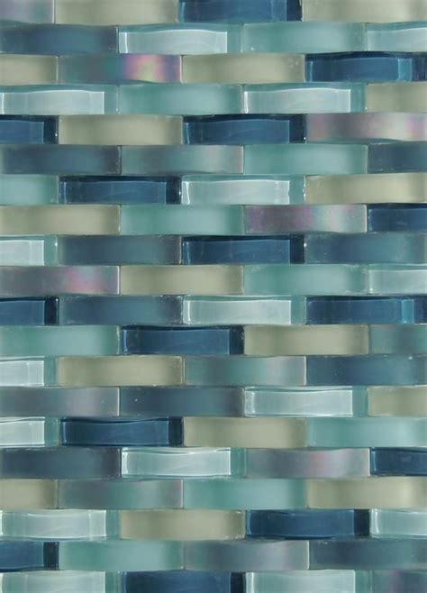 glass tile backsplash ripple waterfall provided by