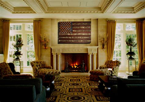 American Flag, Weathered Wood, Edison Bulb, D, Wooden