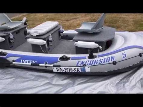Intex Inflatable Boat Review by Intex Excursion 5 Inflatable Boat Review Part 1 Doovi