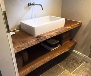 Waschtischplatte Fuer Aufsatzwaschbecken : waschtischplatte massiv aus holz auf ma eiche holzwerk hamburg bathroom pinterest ~ Markanthonyermac.com Haus und Dekorationen