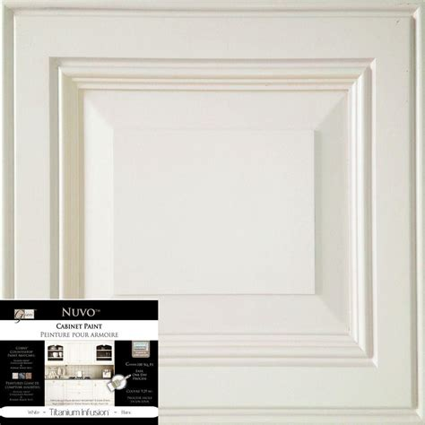 Nuvo Cabinet Paint Titanium Infusion by Nuvo 2 Qt Titanium Infusion White Cabinet Paint Kit Fg