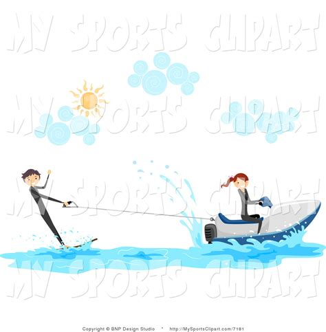 Cartoon Boat Wake by Sports Clip Art Of A People With A Wakeboard And Jetski By