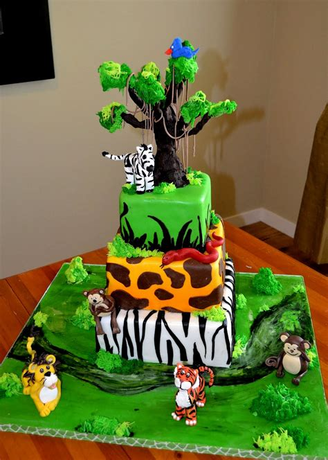 jungle theme cake the shank family a safari theme birthday cake