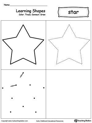 Early Childhood Shapes Worksheets Myteachingstationcom