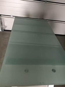 Schreibtisch Höhenverstellbar Ikea : ikea schreibtisch galant glasplatte milchglas chrom beine in gr nwald b rom bel kaufen und ~ Markanthonyermac.com Haus und Dekorationen