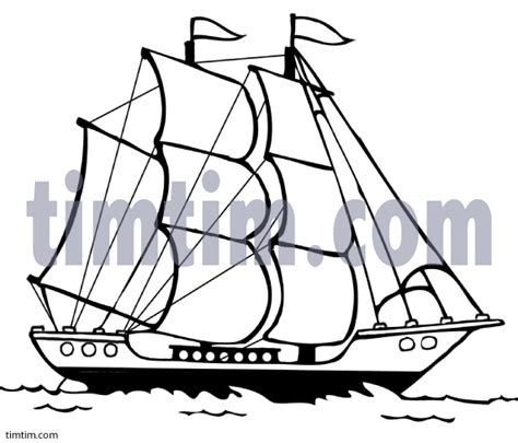 How To Draw A Old Boat by Drawn Sailing Ship Sailboat Pencil And In Color Drawn