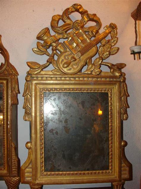 miroir style louis xvi bois dor 233 224 la feuille d or or miroir ancien puces priv 233 es