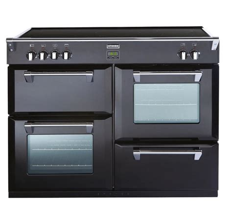 buy stoves richmond 1100ei electric induction range cooker black free delivery currys