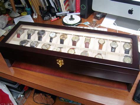 mes montres une boite pour ranger la collection