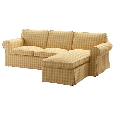 ektorp cover two seat sofa w chaise longue skaftarp yellow ikea