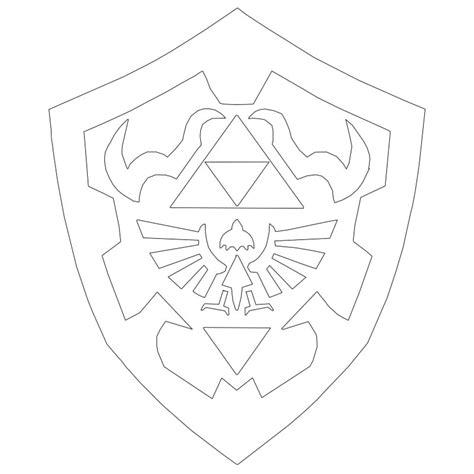 Zelda Pumpkin Stencil by Hylian Shield Lineart By Yoshi12345786 On Deviantart
