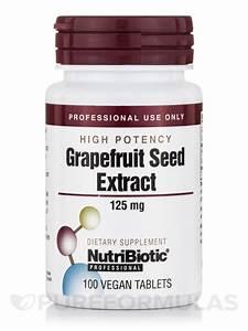Grapefruit Seed Extract (High Potency), 125 mg - 100 Vegan ...