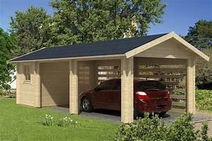Holzgarage Mit Carport : carport garage abstellraum 70mm sams gartenhaus shop ~ Markanthonyermac.com Haus und Dekorationen