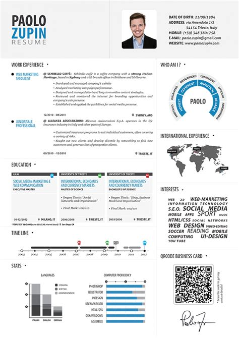 Paolo Zupin  Infographic Resume Visually