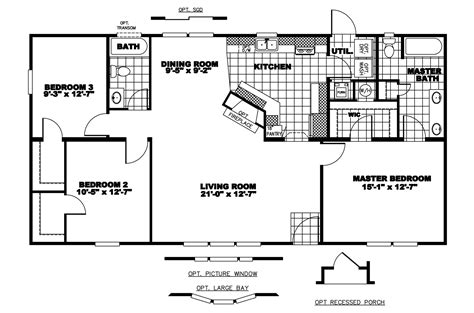 Clayton Mobile Home Floor Plans Photos by Manufactured Home Floor Plan 2008 Clayton Gaston Manor