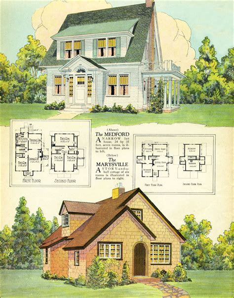 1927 goodrich revival cottage william a 1925 american builder magazine published by william a