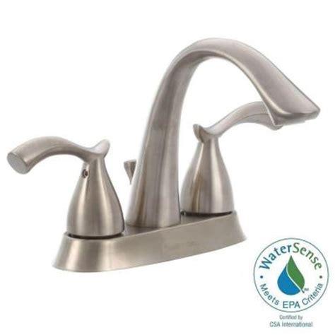 glacier bay edgewood 4 in centerset 2 handle high arc bathroom faucet in brushed nickel 462ec