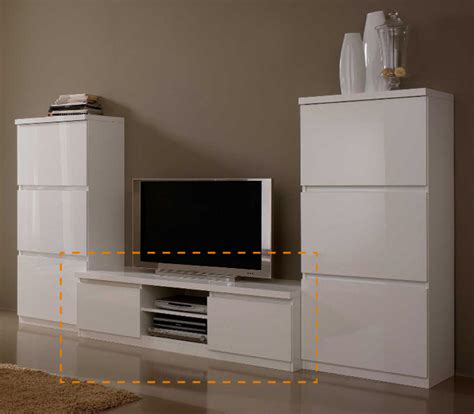 meuble tv plasma roma laqu 233 blanc