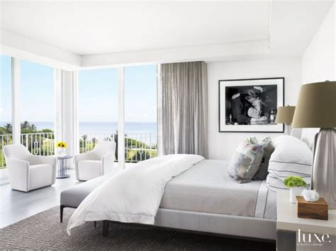 Modern White Bedroom With Blackandwhite Photo Luxe