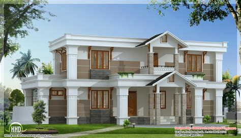 Modern Mix Sloping Roof Home Design  2650 Sqfeet