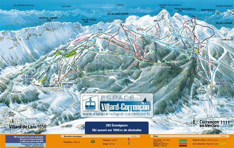 villard de lans plan des pistes de ski villard de lans