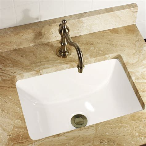 Small Rectangular Undermount Bathroom Sink by Highpoint Collection 16x11 Rectangle Ceramic