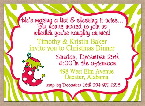Christmas Dinner Party Invitations Christmas Themed Parties For Adults Party Favors To Make Slumber Ideas Tagalog Opening Prayer Themes Work Family Formal