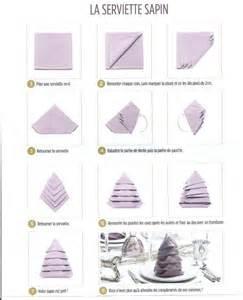 pliage de serviette en forme de sapin la p tite cuisine de sybille