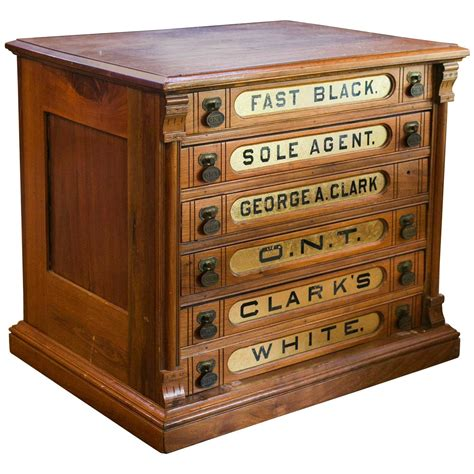 antique clark s six drawer spool cabinet at 1stdibs