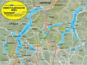 Italienische Schweiz Karte : karte von oberitalienische seen region in italien welt ~ Markanthonyermac.com Haus und Dekorationen