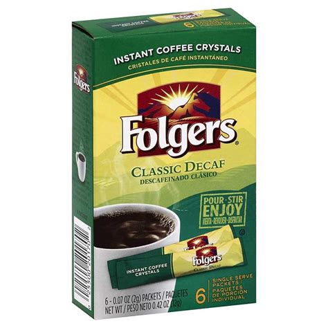 Classic Decaf Instant Single Serve Packets ? Folgers Coffee