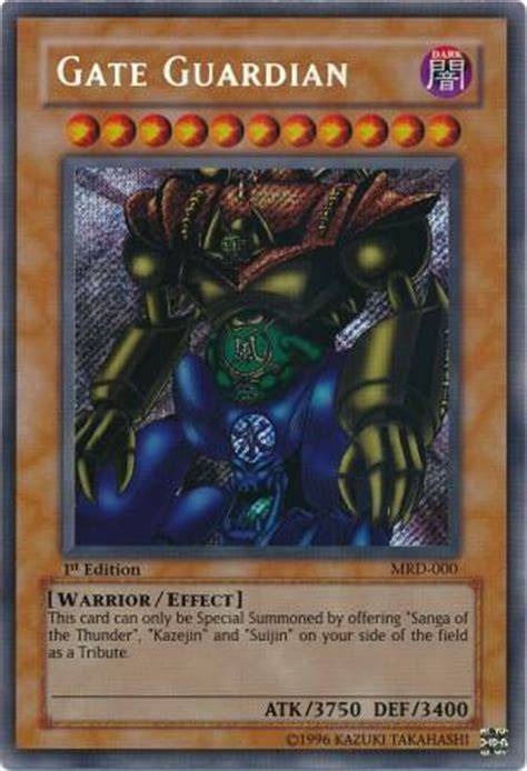 yu gi oh metal raiders 1st edition gate guardian secret