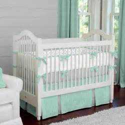 baby crib bedding mint herringbone crib bedding neutral baby bedding