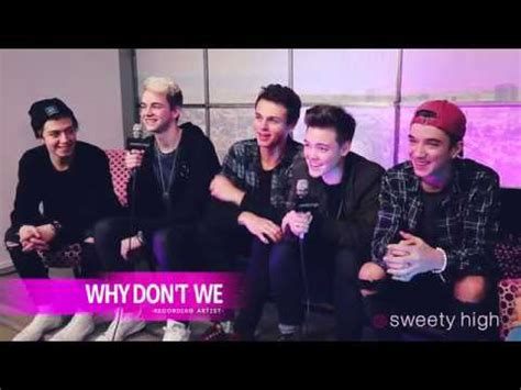 Why Don't We Stops By Sweety High Youtube