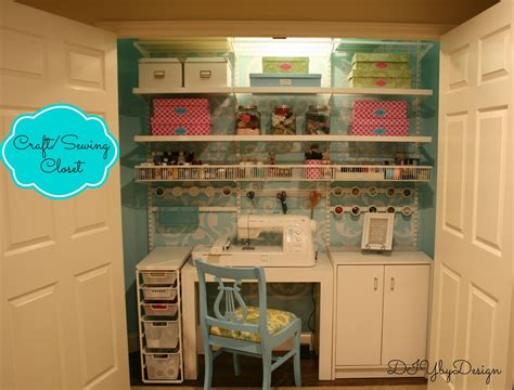Diy By Design Craftsewing Closet Reveal