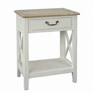 Beistelltisch Weiß Holz : nachttisch huntington wei beige holz nachtschrank beistelltisch ~ Markanthonyermac.com Haus und Dekorationen