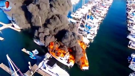 Everett Fire Boat by Incredible Drone Video Fire Destroys Boats At Everett