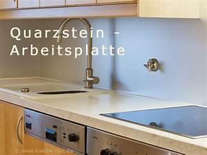 Arbeitsplatte Küche Stein : arbeitsplatten quarzstein und alurueckwand neu f r ikea kueche ~ Markanthonyermac.com Haus und Dekorationen
