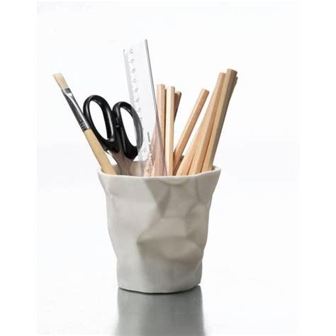 pen pen pot a crayon essey blanc accessoire de bureau