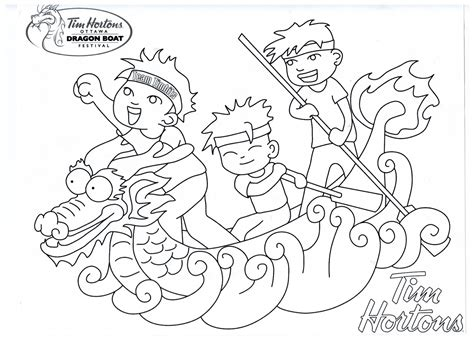 How To Draw A Dragon Boat by Tang Long Festival Colouring Pages Sketch Coloring Page