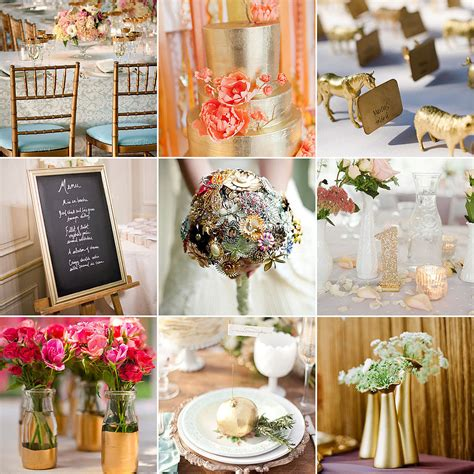 Gold Wedding Decor Ideas  Popsugar Home