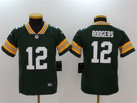 New Nike Packers 12 Aaron Rodgers Green Youth Vapor