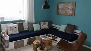 Bauanleitung Paletten Sofa : sofa aus europaletten mit vielen extras handmade kultur ~ Markanthonyermac.com Haus und Dekorationen